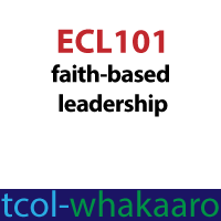 badge image for ECL101 Faith based leadership badge