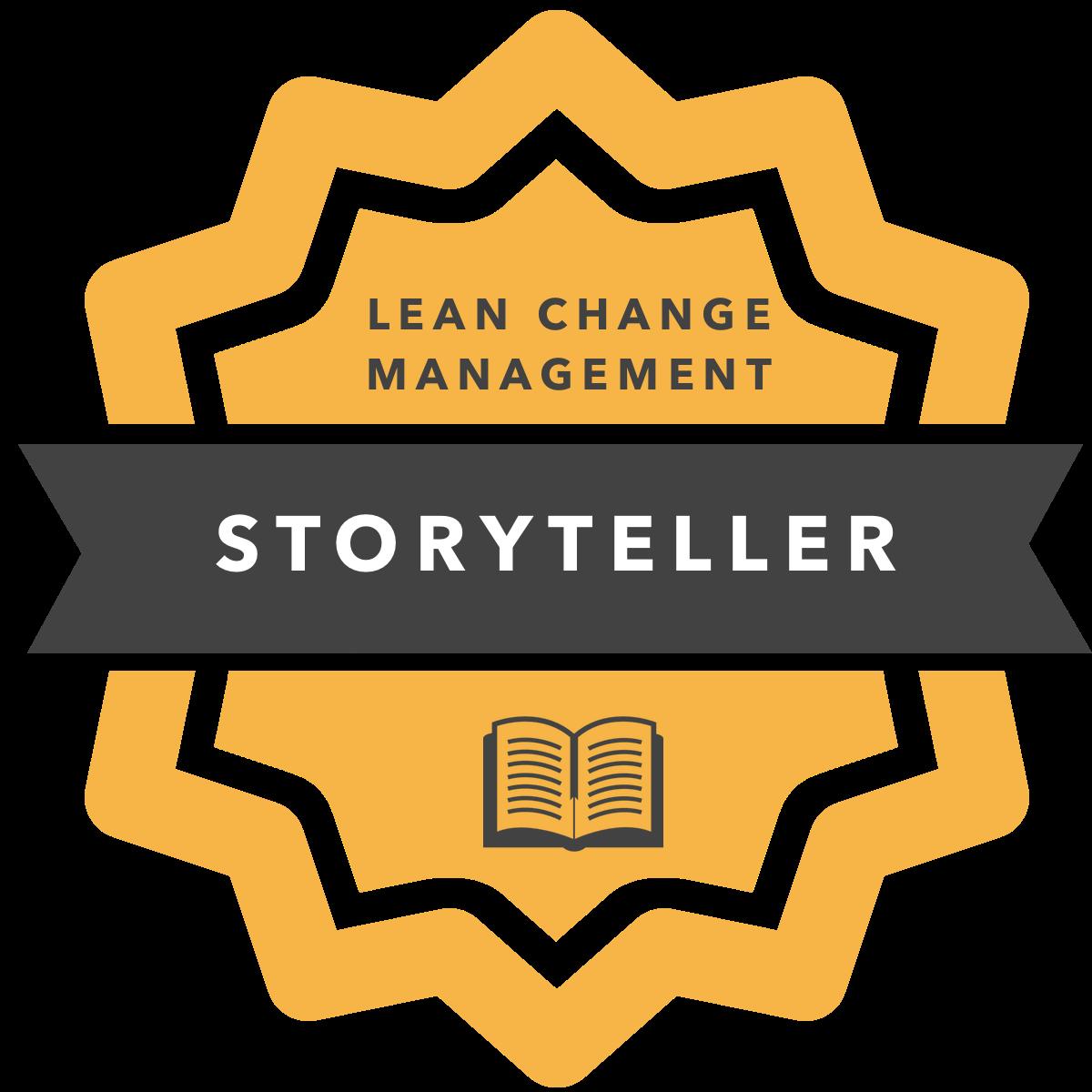Lean Change Agent - Storyteller