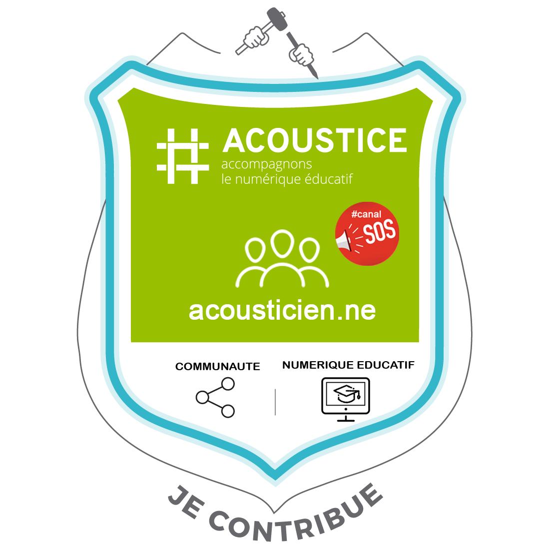 Je contribue au dispositif acoustice