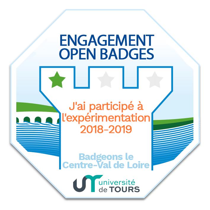Engagement Open Badges - J'ai participé à l'expérimentation 2018-2019