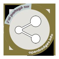 J'ai partagé mon projet Open Badge