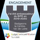 J'ai été ambassadeur.rice du Budget Participatif Etudiant 2019/2020 de l'université de Tours